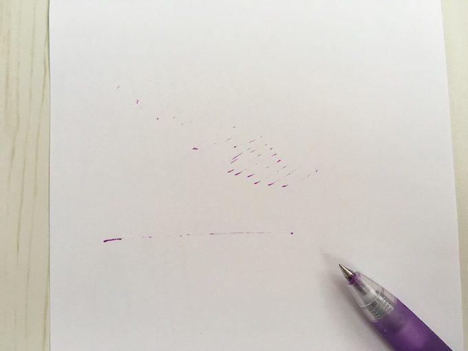 ボールペンからインクが出なくなった