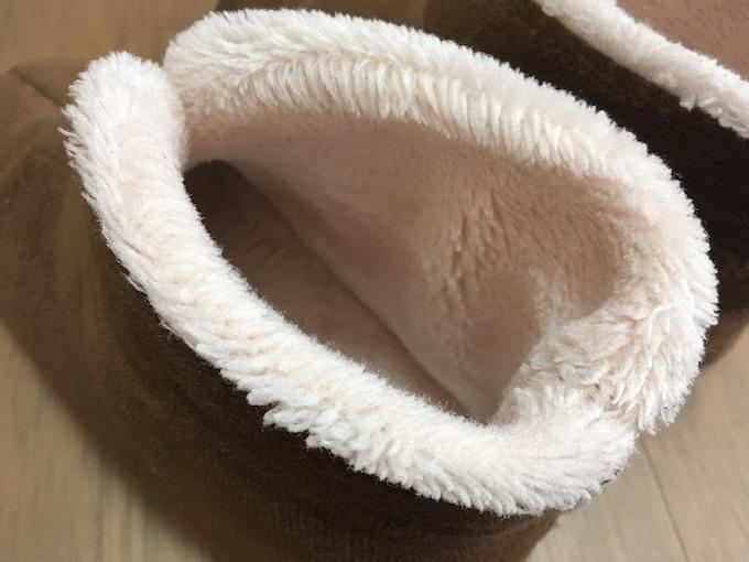 『足の冷えない不思議なスリッパ』内側
